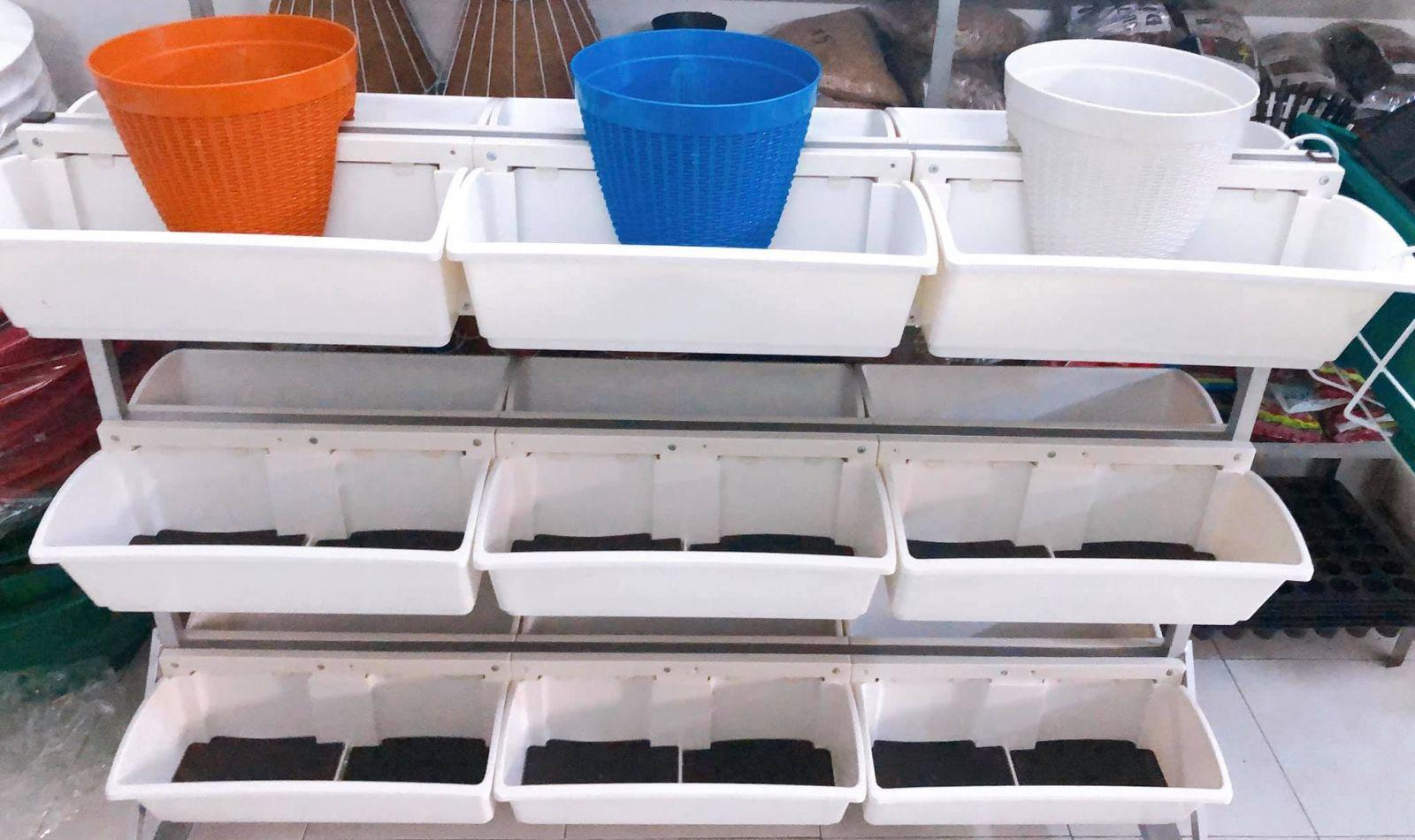 Giàn trồng rau di động Quang Anh HCM giá rẻ, phù hợp với mọi nhà