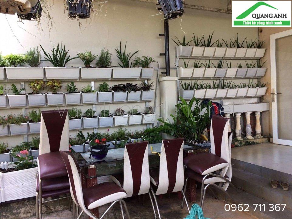 mô hình modul vườn tường đứng Quang Anh HCM đã thi công.