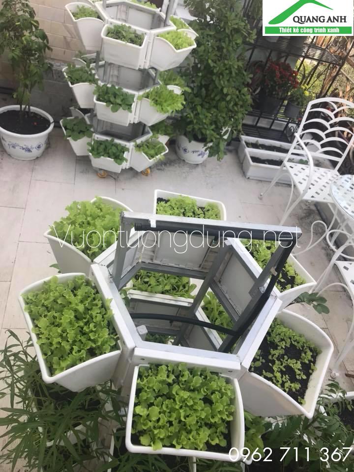Giàn trồng rau di động QA-03B18 chất lượng hàng đầu, giá cả phải chăng