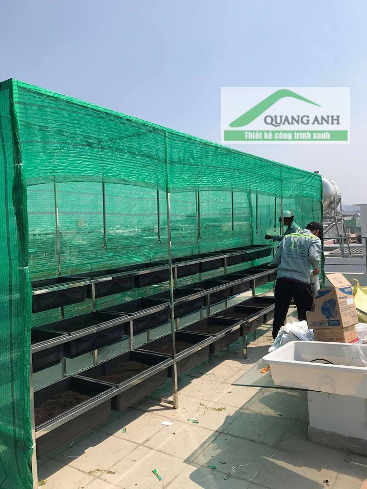 Dùng lưới lan và các bộ giàn leo của Quang Anh HCM đẻ hạn chế nước mưa