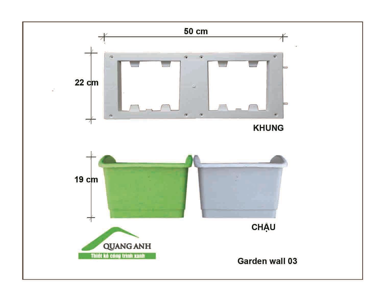 Thông số kỹ thuật của modul vườn tường đứng QA03