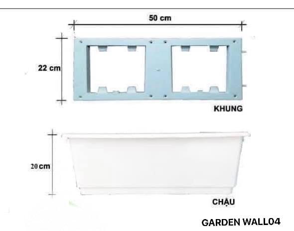 Thông số kỹ thuật của modul vườn tường đứng QA04