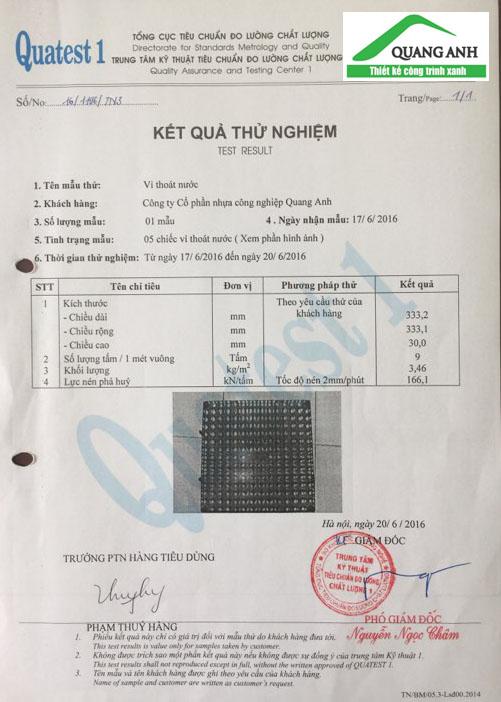 Vỉ thoát nước Quang Anh HCM - phân phối sản phẩm toàn quốc