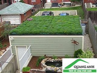Thi công vườn trên mái với vỉ thoát nước