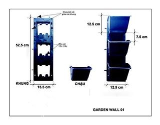 4 mẫu modul vườn tường