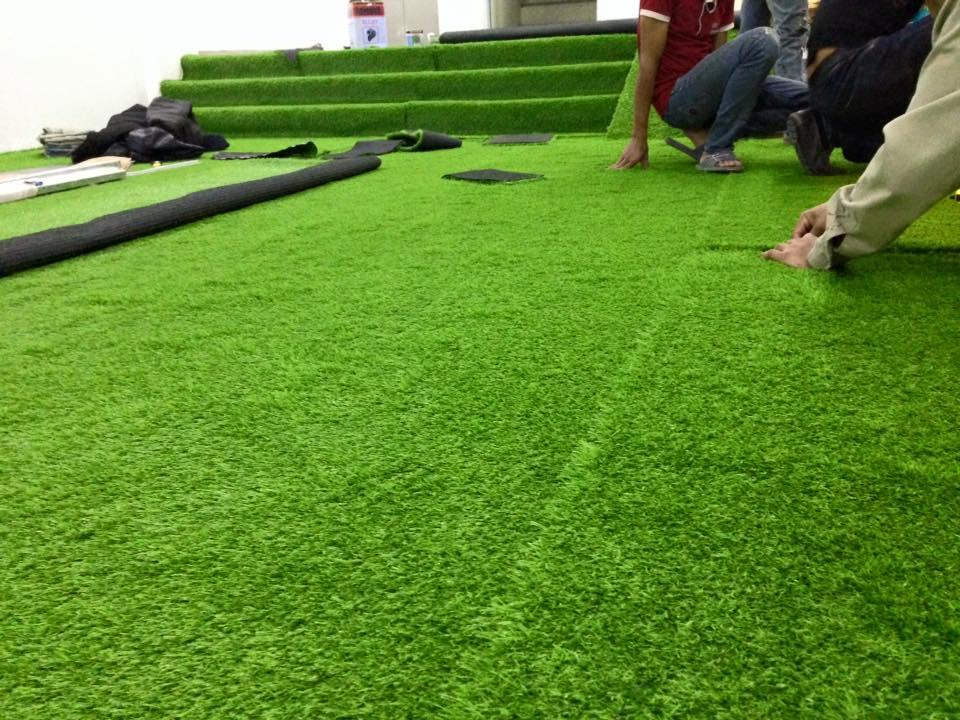 Vỉ thoát nước phục vụ cho công trình thi công cỏ nhân tạo