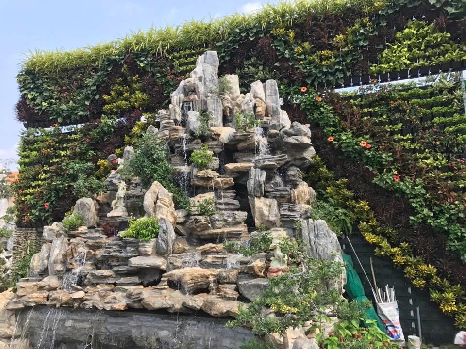 Công trình vườn tường đứng cây xanh 1500 m2 Bình Chánh HCM