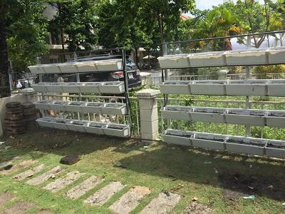 Thi công giàn trồng rau sạch tại Bình Dương