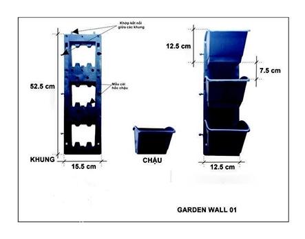 Modul vườn tường đứng Garden wall 01