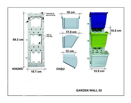 Modul vườn tường đứng Garden wall 02