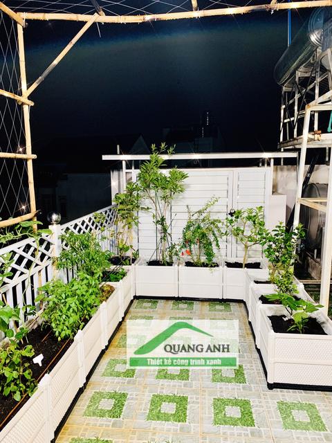 Quang Anh HCM thi công vườn rau sạch, vườn cây xanh cho chị Khanh ở TP Biên Hòa, Đồng Nai