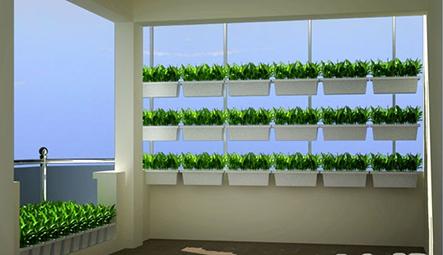 Bộ chậu trồng rau ốp tường QA03-QA04