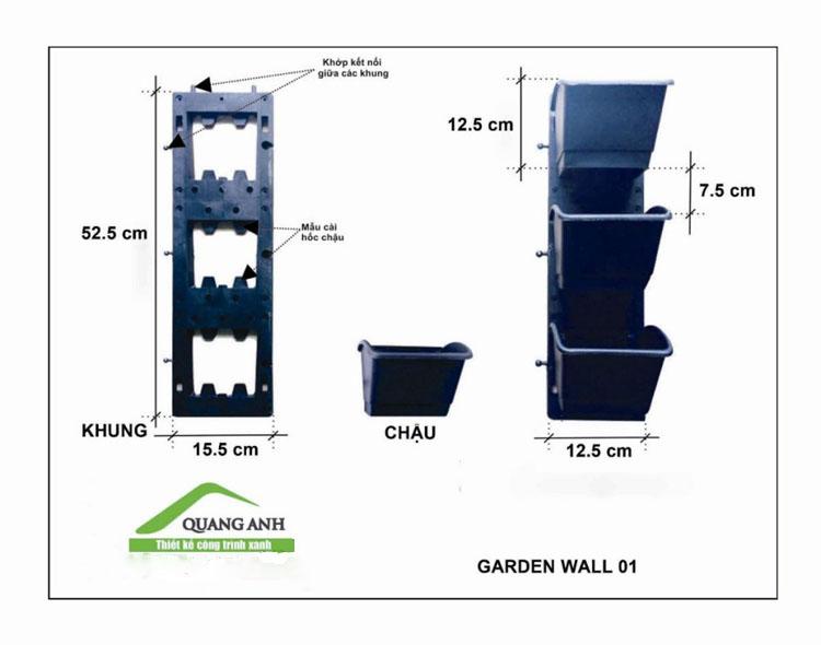 Catalogue khung chậu vườn tường